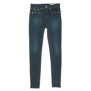 Rag & Bone Womens Haight Denim Whisker Wash Skinny Jeans