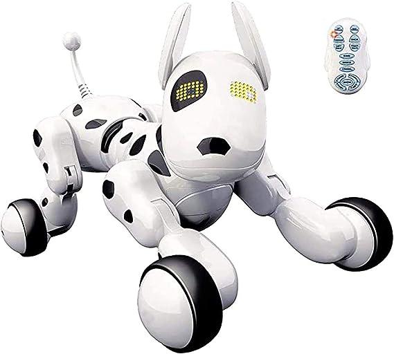 Aggiornato 10+ anni 9 7 Giocattoli per controllo vocale RC Robotic Stunt Puppy Animali elettronici che ballano Robot programmabile con suono per bambini di et/à 6 Cane robot telecomandato 8
