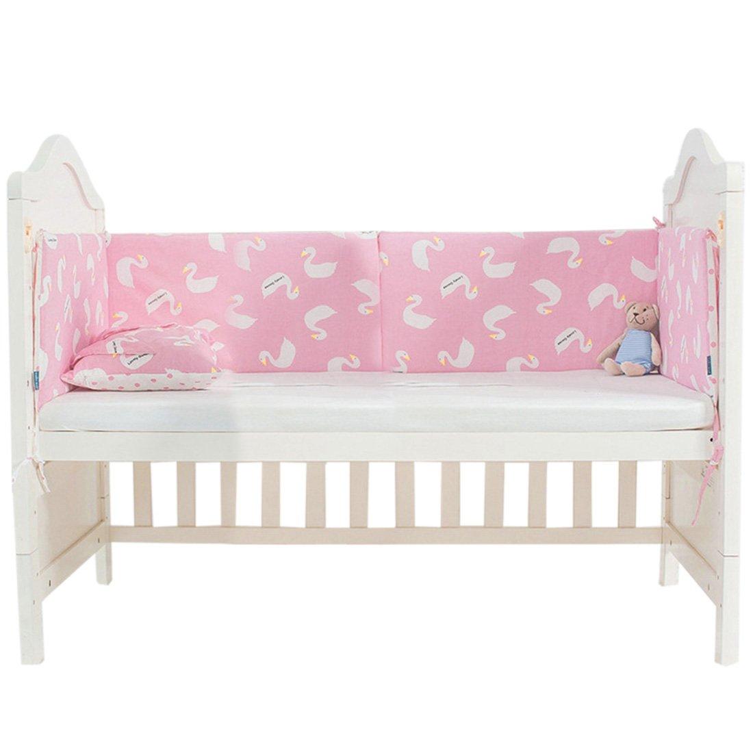 Enerhu ベッド バンパー パッド ベビーベッド ライナー ベビー 睡眠 安全 ガード クッション One Size QLUS22200820-1  #1 B07L74CY78