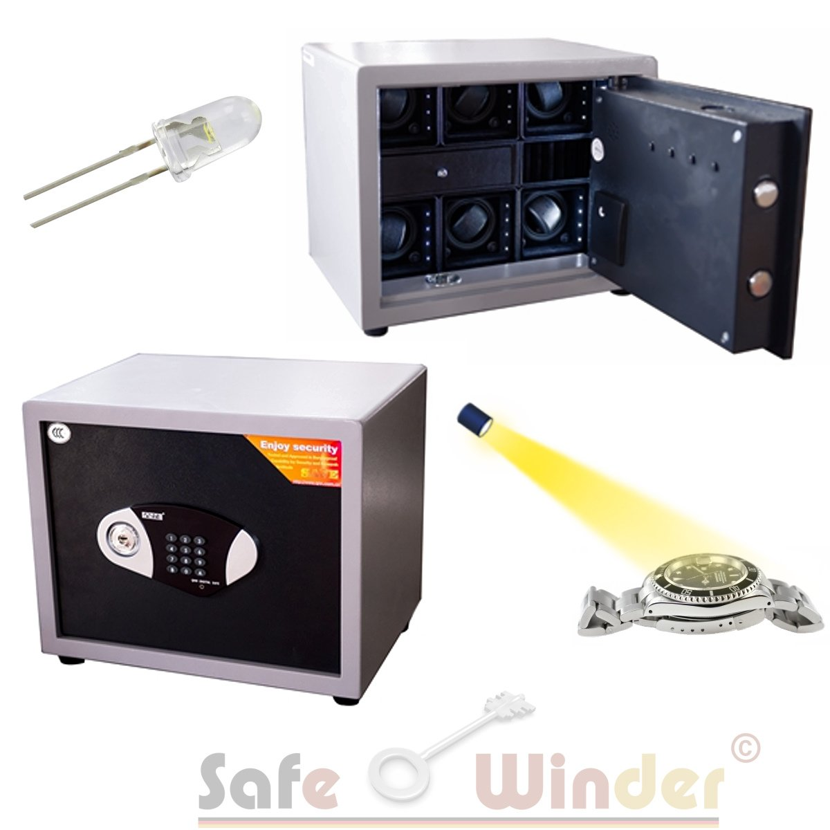 Safewinder® Type BIG 6 PLUS Uhrenbeweger & Safe