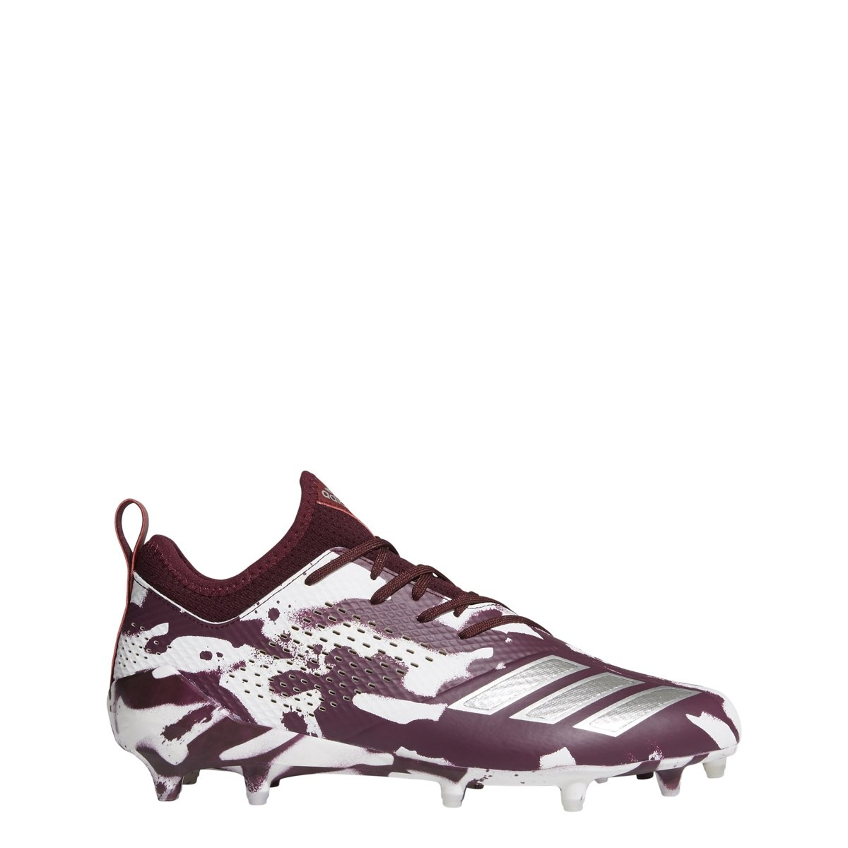 adidas Men's Adizero 5-Star 7.0 Football Shoe B078LC9Z89 7 D(M) US|Maroon-silver Metallic-white