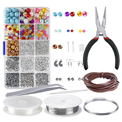 Bead Kit - OPount Jewelry Making Starter Kit Jewelry Making Beads for Jewelry Crafting and Jewelry Repairing