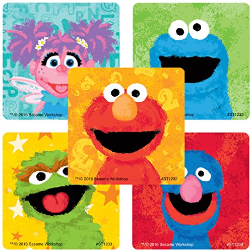 SmileMakers Sesame Street Chalk Stickers - Prizes 100 Per Pack