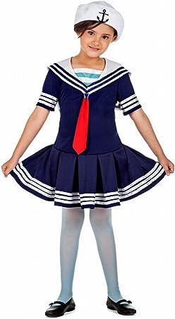 Disfraz de Marinera para niña: Amazon.es: Juguetes y juegos