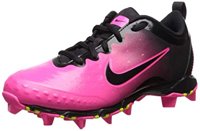 00be4a7a8 Nike Girl's Hyperdiamond 2 Keystone Softball Cleat Black/Pink Blast/Vivid  Pink Size 1