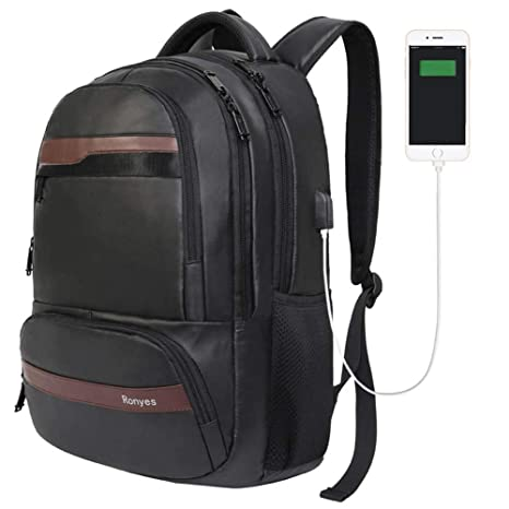1c2cf5711f1e Laptop Backpack Travel Computer Bag Business Anti Theft Waterproof Daypack  with USB Charging Port 15.6 Inch