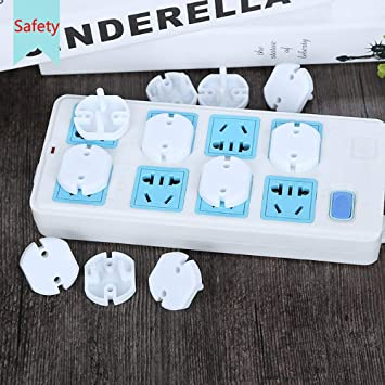 Socket Protection for Baby and Children Safety for 2-pin Socket Cover Socket for Baby Protection Child Protection Socket Fuse-Easy User-Friendly 20 pcs. EU Plug Socket Covers White