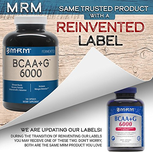MRM - BCAA+G 6000, Ultimate Muscle Post-Workout Recovery Formula , Supports Muscle Size & Strength, Recovery, Reduces Fatigue & Muscle Soreness (150 Capsules) by MRM (Image #3)