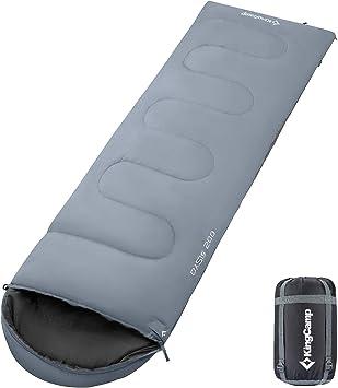KingCamp Oasis 200 Saco de Dormir Rectangular con Capucha para Acampada, Senderismo, Camping, Confortable y Ligero, hasta 11 Grados ºC, Tela Muy Resistente, 220 x 75 cm: Amazon.es: Deportes y aire libre