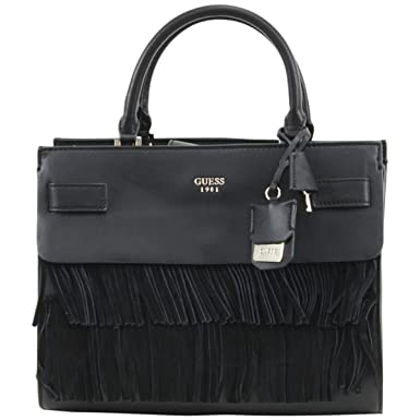 GUESS Women s Cate Satchel Black Handbag  Handbags  Amazon.com b1549a6cd481e