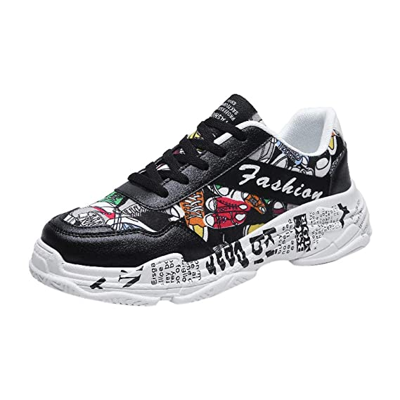 6cfdd340cab62 Amazon.com: JJLIKER Mens Fashion Graffiti Sneakers Tennis Running ...