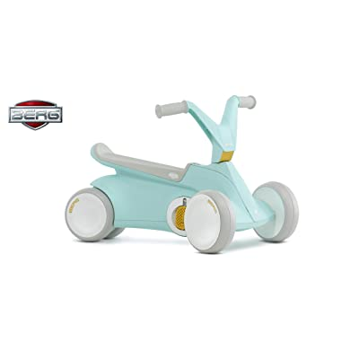 Berg GO² 2in1 Push Car | Ride on with Integrated Folding Pedal System, from Baby Walker to Toddler Ride On Toys, Balance Bike and Pedal Gokart, First Birthday Gift, for Ages 10-30 Months (Mint): Toys & Games