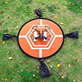 Virhuck-RC-Drone-Landing-Pad-Fast-Fold-Helicopter-Landing-Pad-for-DJI-Mavic-Pro-Phantom-1234-Pro-Inspire-21-3DR-Solo-Syma-or-Other-Quadcopter-Orange