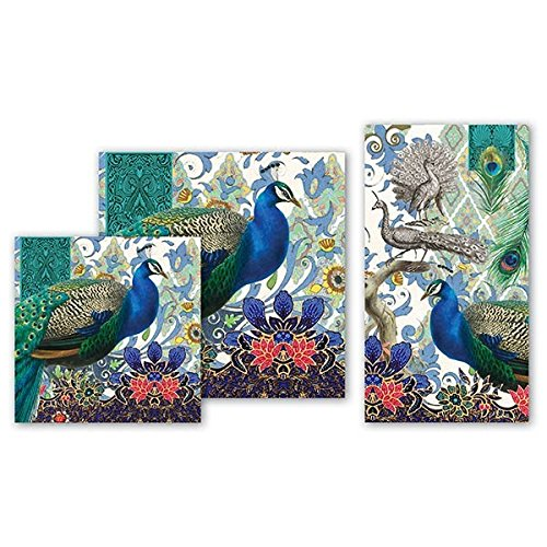 Michel Design Works NAP295 20-Count 3-Ply Paper Cocktail Napkins Peacock