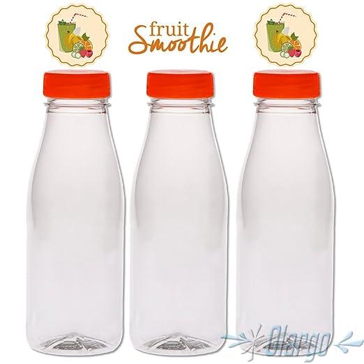 GARGO (3 unidades, botella para smoothies – Botella de plástico ...