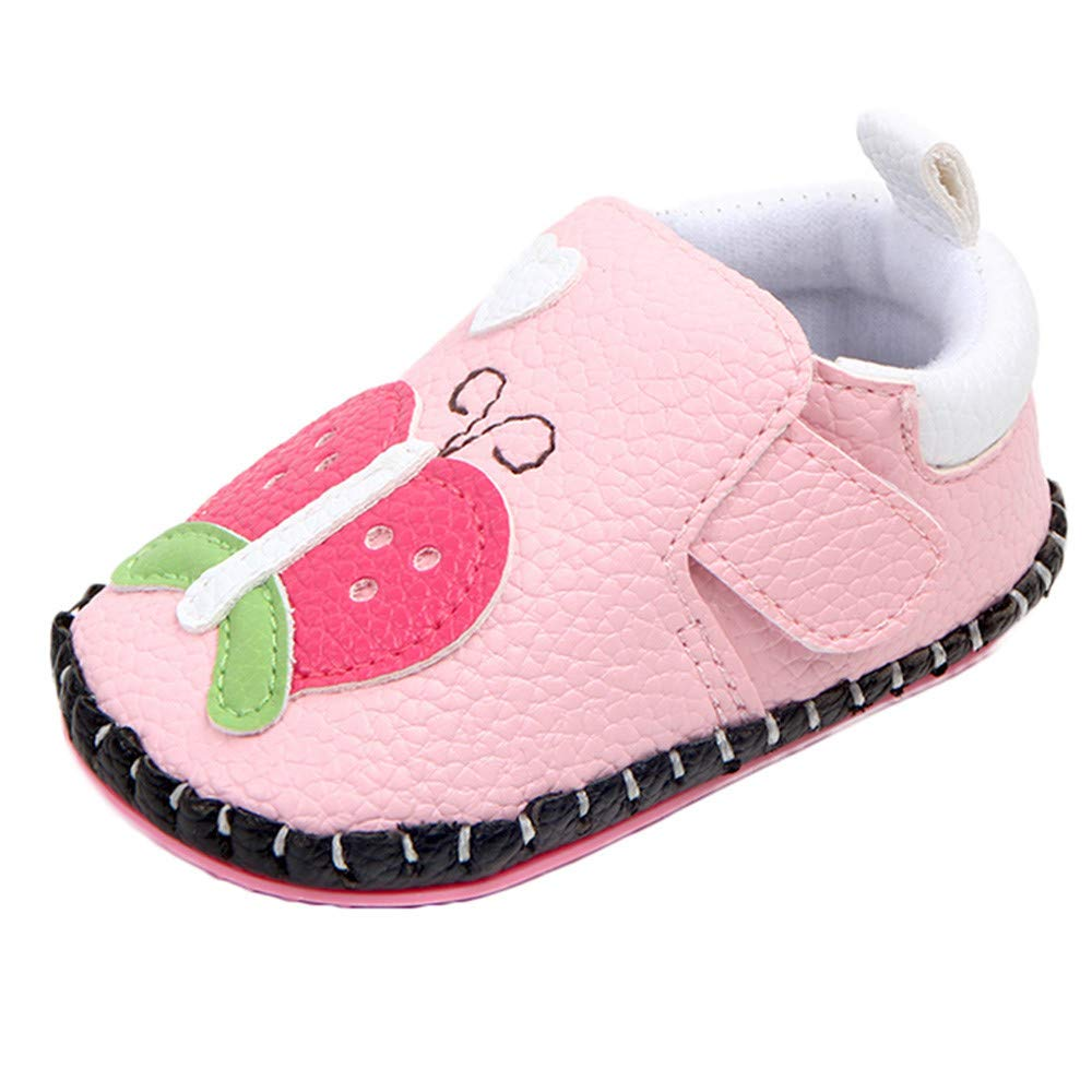 Voberry@ Baby Girls Cartoon Sneakers Soft Sole Infant First Walker Shoes Toddler Crib Shoes