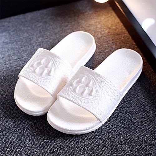 verano en par permanezca antideslizante zapatillas habitación macho de un femenino DogHaccd zapatillas la espeso Blanco1 cool Zapatillas Verano de nbsp;Casa baño nqfzgzvw0