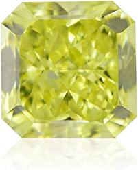 1.13Cts Fancy Intense Yellow Loose Diamond Natural Color Radiant Cut GIA Cert
