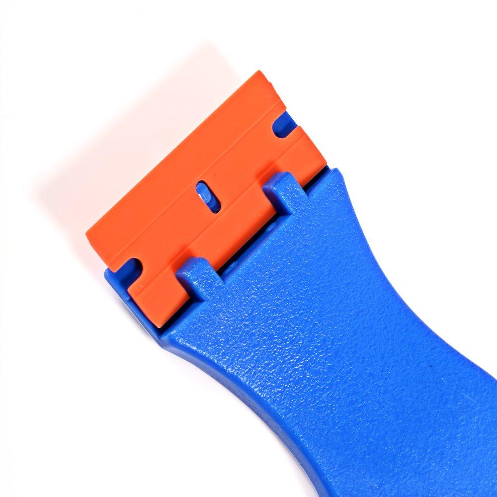 Ehdis/® 1,5 de alta visibilidad Mini navaja de doble filo de pl/ástico hoja de raspador con 100PCS pl/ástico razor rasqueta para rascar etiquetas y calcoman/ías de vidrio parabrisas