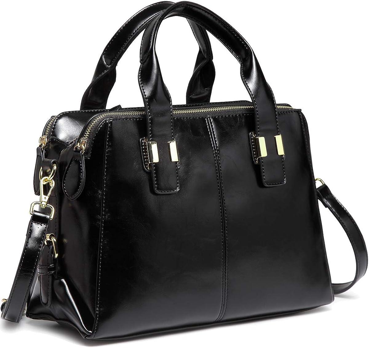 Fashion Ladies Faux Leather Tote Bag Women Shoulder Handbag Satchel Office Work