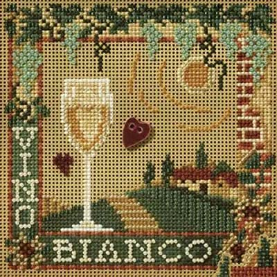 MILL HILL Buttons Beads Kit Counted Cross Stitch VINO BIANCO Wine MH14-7101