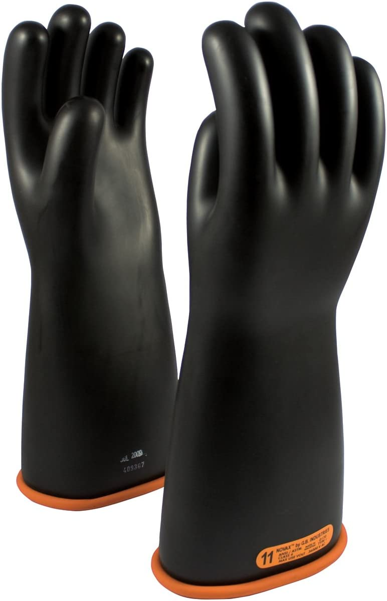 novax 155 4 16 10 class 4 rubber insulating glove with straight cuff 16 amazon com novax 155 4 16 10 class 4 rubber insulating glove with straight cuff 16