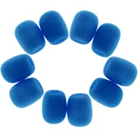 MagiDeal Durable 10Pcs Sponge Mini Microphone Windscreens Mic Cover - Blue
