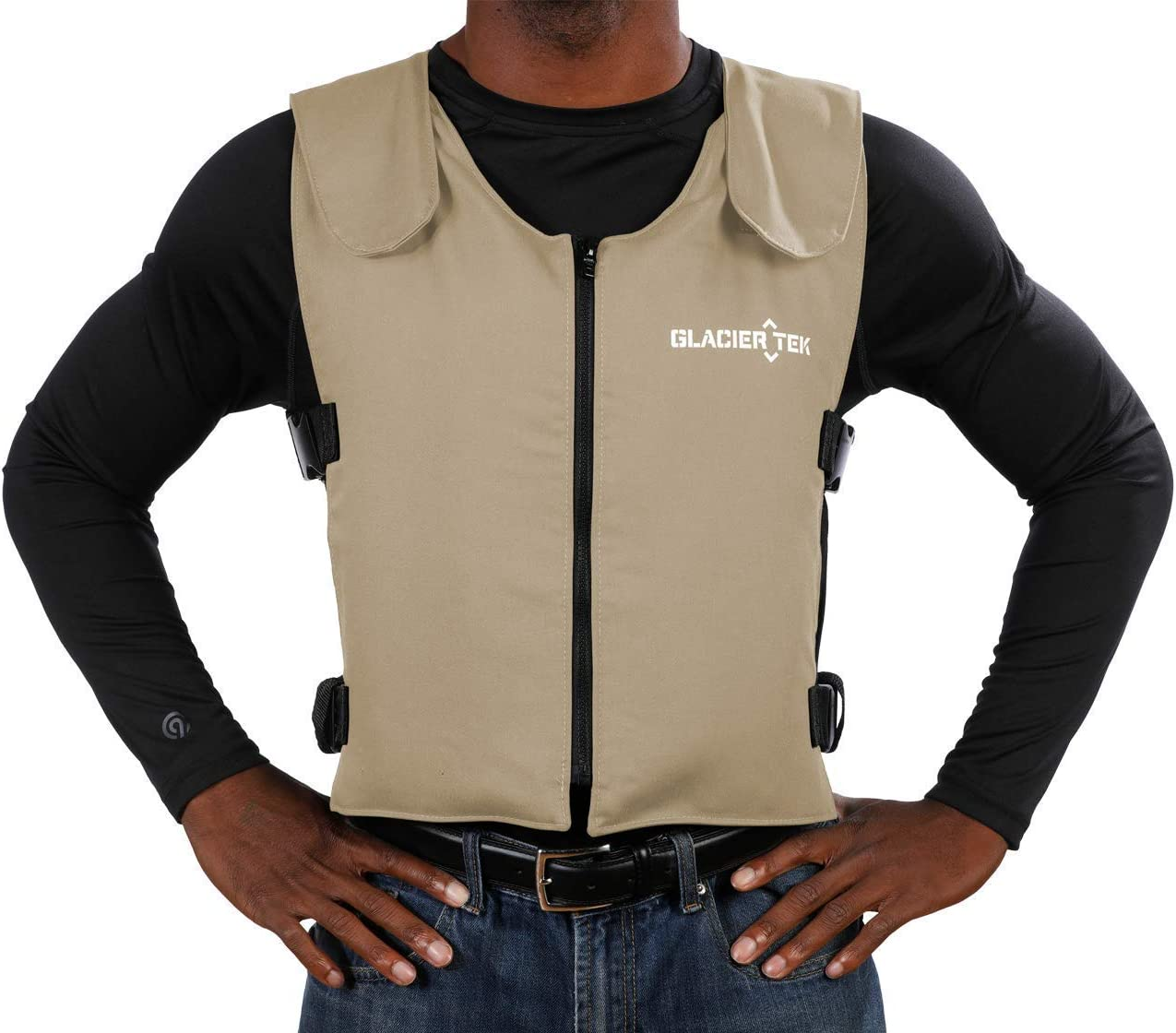 Glacier Tek Original Cool Vest with FR3 Flame-Retardant Banox Fabric and Nontoxic Cooling Packs