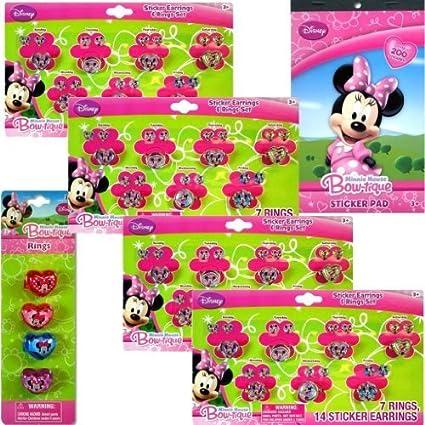 91dea8c56fad0 Amazon.com: Disney Minnie Mouse Jewelry Party Favor 6-pack Set for ...