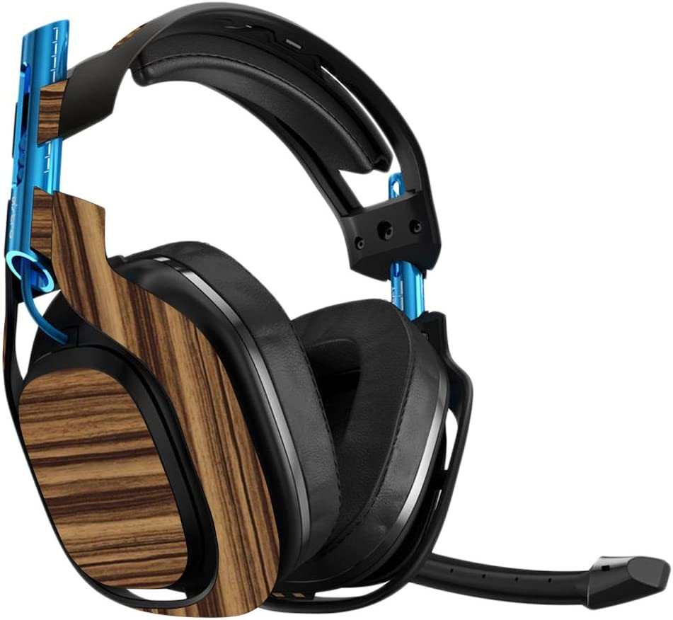 MightySkins Skin Compatible with Astro A50 Gaming Headset - Dark Zebra Wood | Protective, Durable, and Unique Vinyl Decal wrap Cover | Easy to Apply, Remove, and Change Styles | Made in The USA