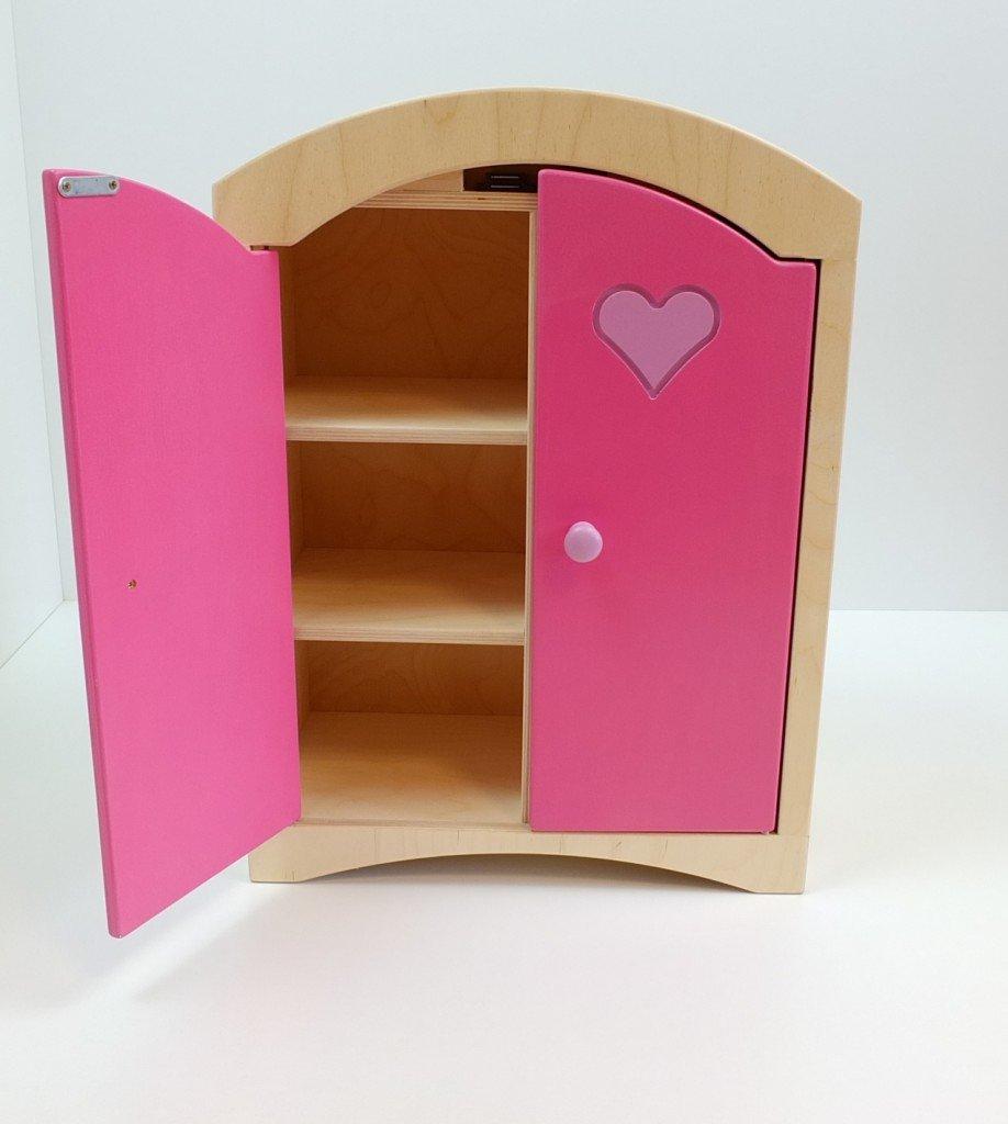Unbekannt Puppenkleiderschrank inkl. 5 Kleiderbügeln/Material: Holz ...