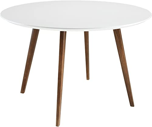 Modway Platter 47″ Mid-Century Modern Round Kitchen and Dining Table