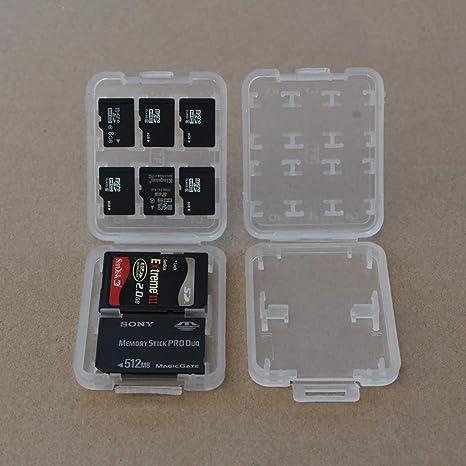 Arabby - Funda para Tarjetas de Memoria SD TF MMC Micro SD SDHC (2 Unidades): Amazon.es: Informática