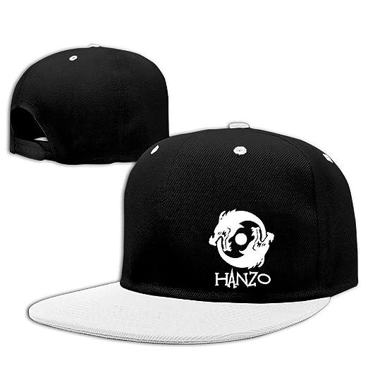 Overwatch Hanzo Dragon Unisex Outdoor Hip Hop Sports Cotton Sanpback Cap Hat  Adjustable White 9930df363bd8