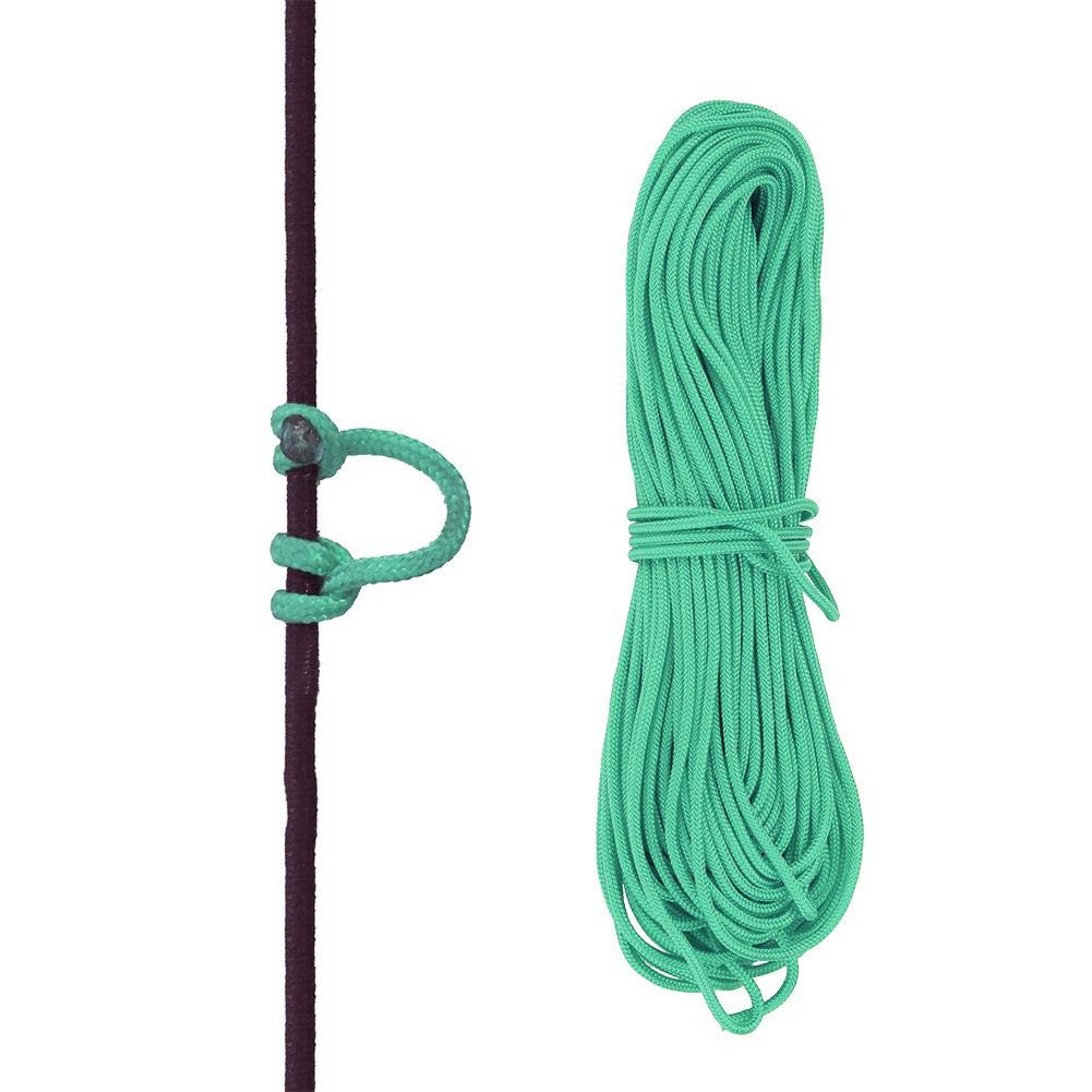 VGEBY Bowstring Loop, Archery Compound Bow D-Loop Rope Wire String Bow Release Nock Loop Accessory(Green)