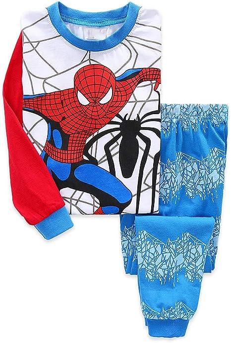 Shanleaf-Cat Super Hero Boy's Pajamas Clothes Set Cotton 2-7T 2 PCS Spider-Man pjs