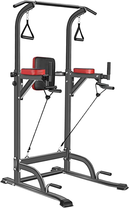 Power Tower Workout Dip Station Pull Up Bar Dip Exercise Equipment Home Exercise