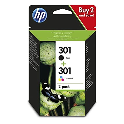 HP 301 - Cartucho de tinta para impresoras (Negro, Cian ...