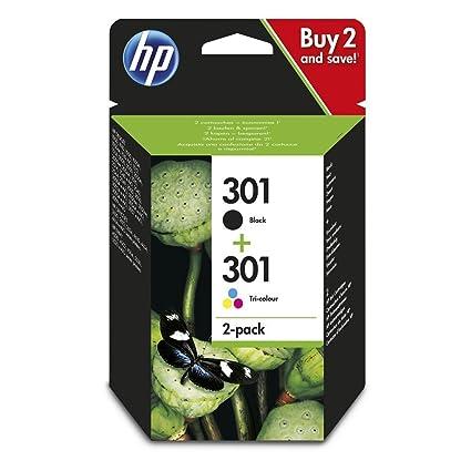 HP 301 - Cartucho de tinta para impresoras (Negro, Cian, Magenta ...