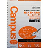 Kokuyo Campus B5 A-Ruled 7mm Smooth Paper Loose-Leaf 100 Pages by Kokuyo ROH-836AT (Japan Import)