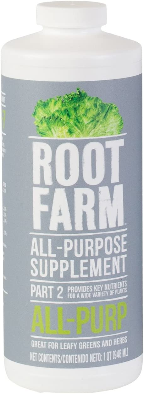 Root Farm All-Purpose Supplement - Liquid Nutrient for Hydroponic Plants, 32oz