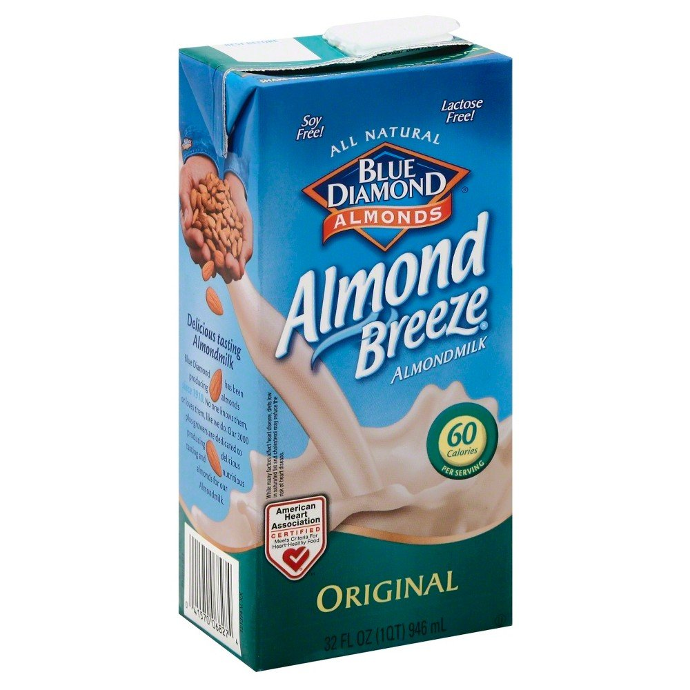 Blue Diamond Breeze Almond Milk, 32 Ounce (Pack of 12)