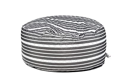 Enjoyable Amazon Com Pozitive Bean Bags Round 47 Inch Grey Stripes Pdpeps Interior Chair Design Pdpepsorg