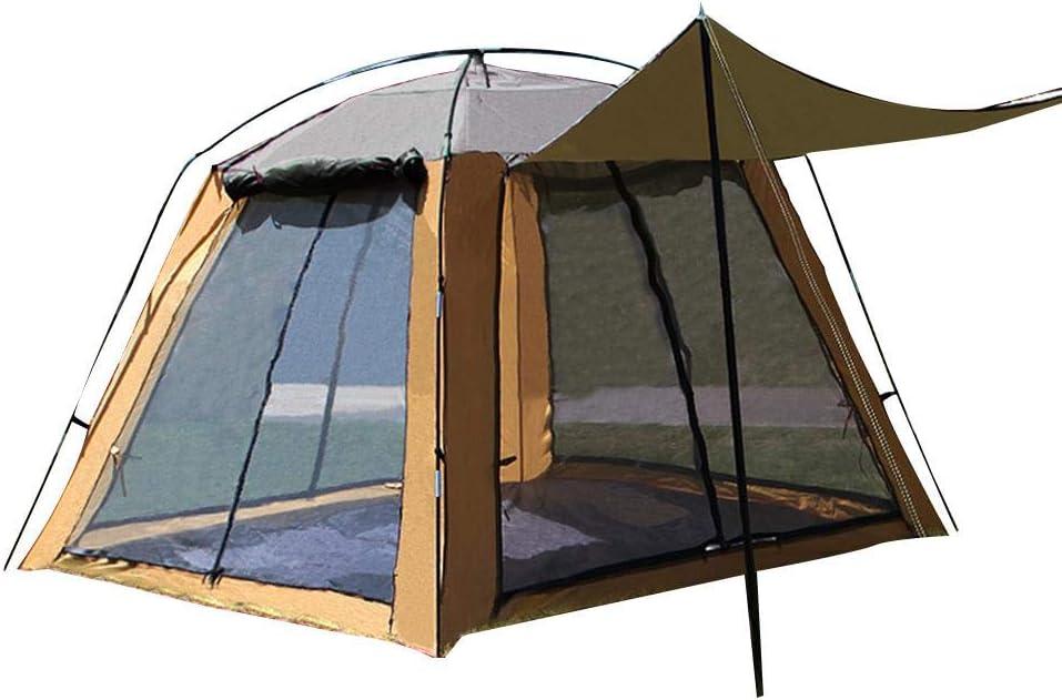 Camping Zelt Camping Gaze Net Atmungsaktiv Sonnencreme Vierseitige T/ür Fenster Atmungsaktiv Anti-Moskito F/ür Picknick Im Freien Seasaleshop Gro/ßes Kuppelzelt 3 Bis 4 Personen Angeln Zelt