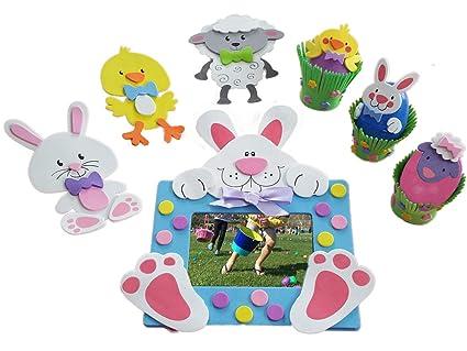 Amazon Com Easter Bunny Chick And Lamb Foam Craft Kits Sweet