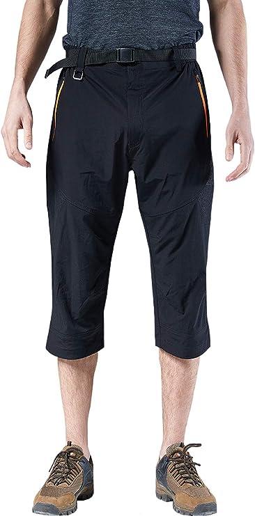 Mr.Stream Mens Classic Bermuda Beach Capri 3//4 Cropped Sweatpants Camping Quick Drying Casual Shorts