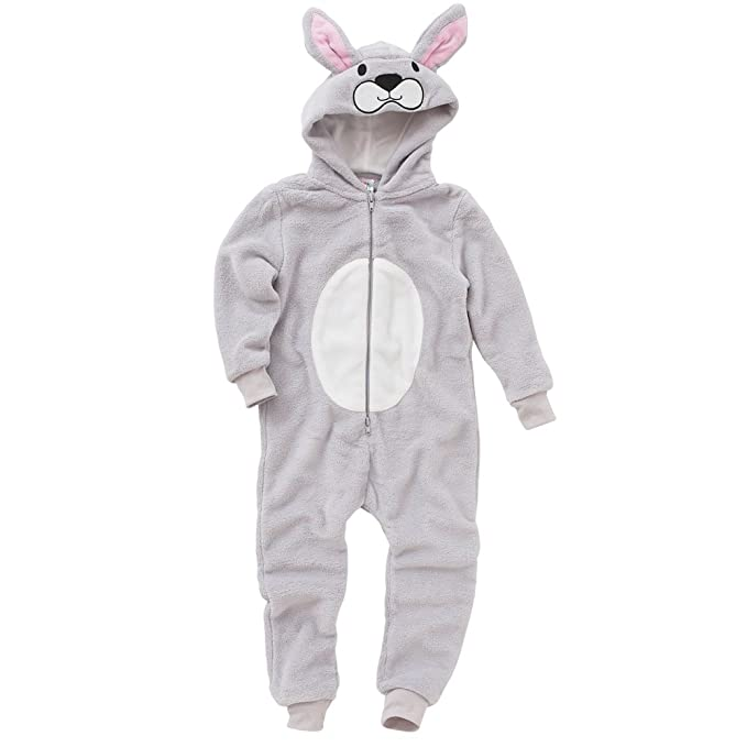 684715d90595 Animal Crazy Girls Supersoft Fleece Rabbit Onesie Jumpsuit Playsuit   Amazon.co.uk  Clothing