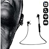 Bluedio M2 Stereo Bluetooth Wireless In-Ear Sports Running Headphone for Smartphone - White