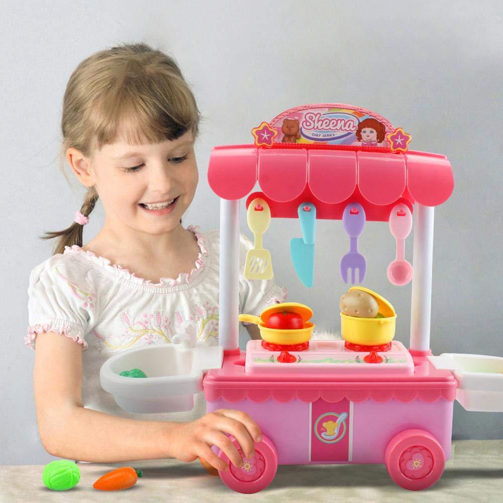 Juguete eléctrico de la Cocina del Juego de rol de la música de la iluminación, Juguete eléctrico de la muñeca de la pretensión para los niños