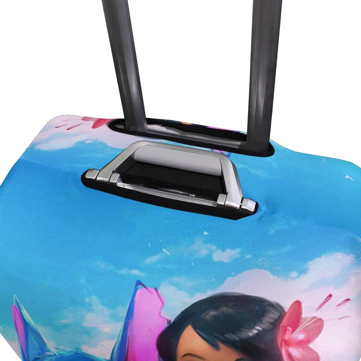 Stitch Lilo Moana Travel Luggage Cover Suitcase Protector Fits 26-28 Inch Washable Baggage Covers